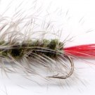 Dark Olive Wooly Worm Fly Fishing Fly - One Hook Size 8
