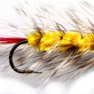 Yellow Wooly Worm Fly Fishing Fly -One Hook Size 10 Fly