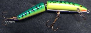 Rapala Jointed Floating Fire Tiger J07-FT Lure w/PAPERS