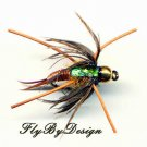 Copper Jumbo Fly Fishing Nymph Twelve Hook Size 8 Flies
