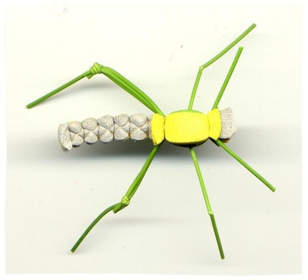 Green Triple Decker Meadow HOPPER -Twelve Size 10 Flies
