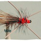 Golden Rubber Leg Stimulator Dry Flies Twelve size 10