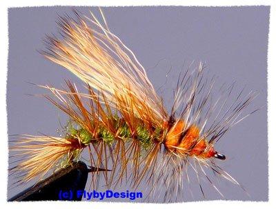 Olive Stimulator - One Dozen Size 14 Fly Fishing Flies