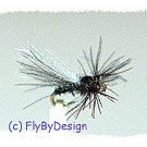 Black CDC Midge Adult Twelve Fly Fishing Flies, Size 20