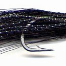 Clouser Black Minnow Six Fly Fishing Flies Size 2/0