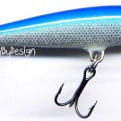 "Rapala F07-B Floating 2-3/4"" Blue Balsa Lure with Paper"