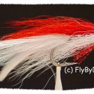 Red & White Deceiver Six Fly Fishing Flies - Size 3/0