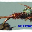 Pheasant Tail Flashback Nymphs Twelve Size #16 Flies
