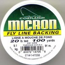 Cortland Micron White Fly Line Backing - 20 LB 100 YDS
