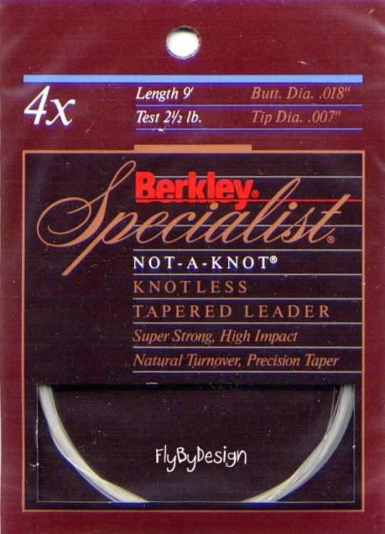 Berkley Specialist 4x - 2.5 Lb test 9' Tapered Leader