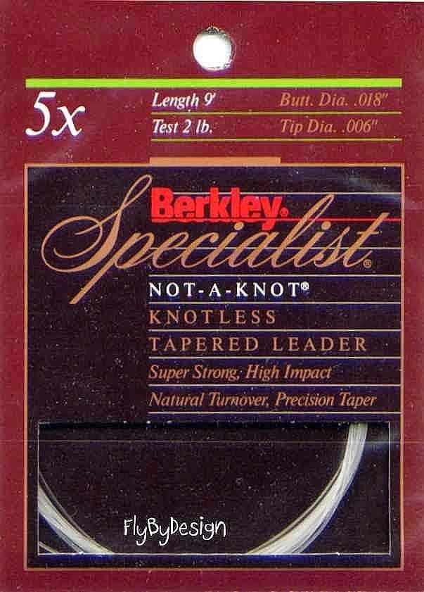 Berkley Specialist 5x - 2 Lb test 9' Tapered Leader