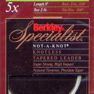 Berkley Specialist 5x - 2 Lb test 9' Tapered Leader