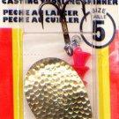 Luhr-Jensen Hammered Brass TeeSpoon Spinner - Size 5