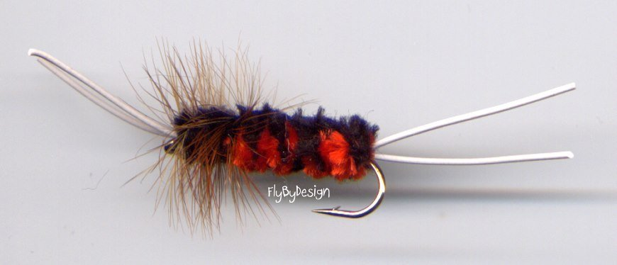 R & B Bitch Creek Nymph Twelve Hook Size 8 Fishing Fly
