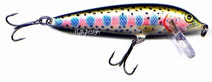 """Rapala CD-7 Countdown Rainbow Trout Sinking Lure 2-3/4"""""""