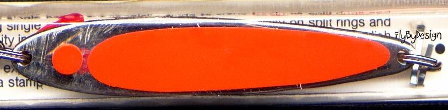 "Swedish Pimple 3-1/4"" Florescent Orange #8 Lure 1 oz."