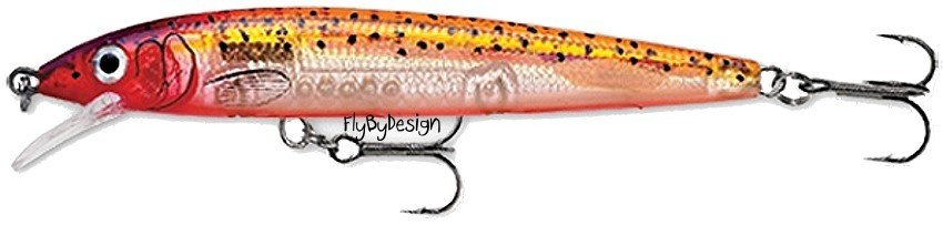 Rapala HJ10 Glass Purple Sunfire Husky Jerk Rattle Lure