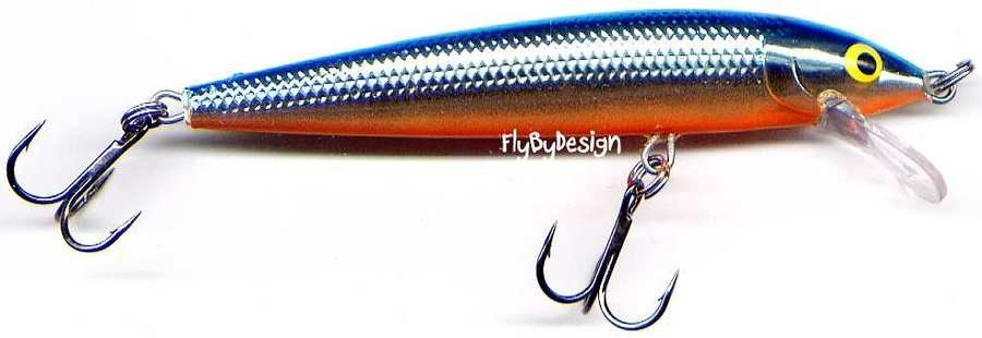 Rapala Husky Jerk Silver Blue Suspending Rattling Lure