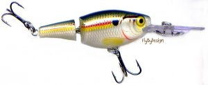 "Rapala 2-3/4"" Jointed Shad Rattling Suspending Shad Rap"