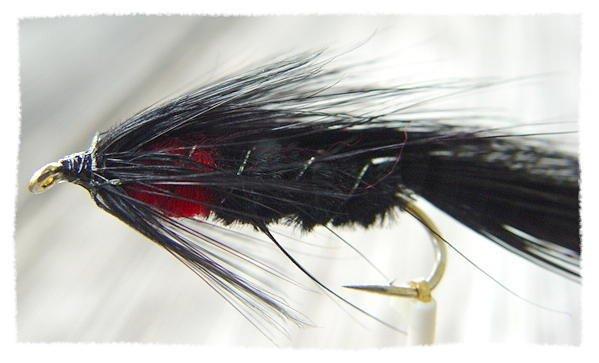 Matuka Black Streamer Fly Fishing Flies Twelve Size 6