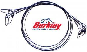 "Berkley Black Steelon X-Strong Steel 24""/30 Lb Leaders"