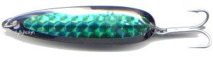 Luhr-Jensen Krocodile 3/4 oz Green Prism Wobbler Spoon
