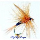 Ginger Quill Dry Flies - Twelve Hook Size 12 Fly Fishing Flies