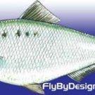 Janssen Shad Fly Fishing Flies - Twelve Flies - Choose Hook Size From List