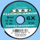 Cortland 6x (3 lb test) 333+ Fluorocarbon Fly Fishing Tippet Material  30 Meters