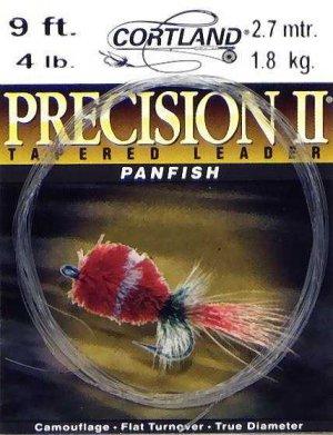 Cortland 4# Precision 9 Ft Panfish Fly Fishing Leader