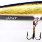 Vintage Rapala Gold Original Floating Fishing Lure (F07 G) with Papers NIB