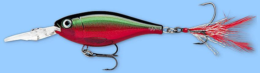 Rapala X-RAP Shad Red Crawdad (XRSSS08 RCW) NEW Fishing Lure with SureSet Hook