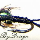 Black Copper John Nymphs Twelve NEW Fly Fishing Flies Choose Hook Size 14 to 20