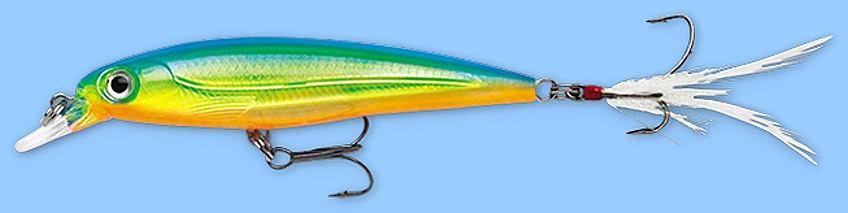 Rapala X-RAP Parrot (XRSS10 PRT) with VMC SureSet Hook Slashbait Fishing Lure