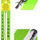 """Stranded 100 Lb Test Titanium 12"""" Leader - Ball Bearing Swivel & Stainless Snap"""