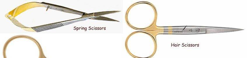 Dr Slick Gold Loop Scissors - Choice of Style & Size