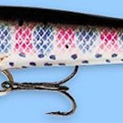"Rapala 3-1/2"" F09-RT Original Floating Rainbow Trout Balsa Fishing Lure"