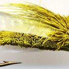 Chartreuse Cidada Fly Fishing Flies - Six Flies in Your Choice of Hook Size
