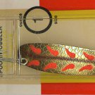 Luhr-Jensen Krocodile Brass Fire Wing Wobble Spoons