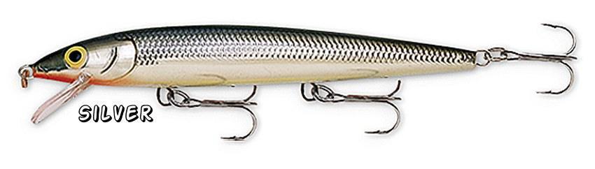 NEW Rapala SILVER Husky Jerk Rattling Suspending Fishing Lure (HJ10 S)