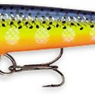 "NEW Rapala F07 Hot Steel 2.75"" Floating Balsa Wounded Minnow Action Fishing Lure"