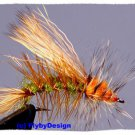 Olive Stimulator Fly Fishing Flies -Twelve NEW Premium Flies Choice of Hook Size