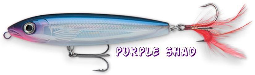 Rapala X-RAP Purple Shad Walk-The-Dog (XRW09 PS) NEW Fishing Lure w/SureSet Hook