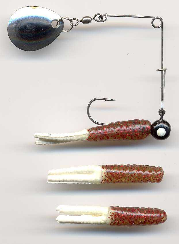 Berkley Johnson Red & White Beetle Spin 1/8 oz Baits