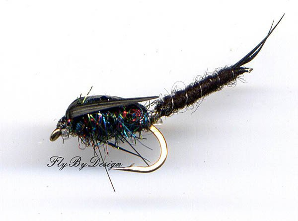 Black Jointed Stonefly - Twelve Premium Fly Fishing Flies Your Choice Hook Size