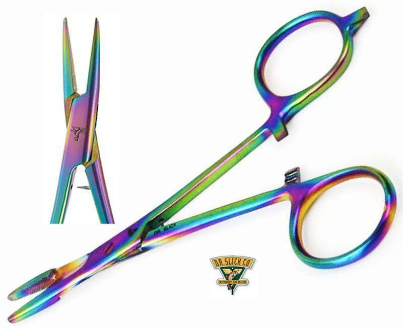 """Dr Slick Prism 5"""" Spring Creek Forceps Clamping Tool for Fly Fishing"""