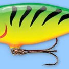 Rapala FireTiger Shad Rap Balsa Hardbait Deep Diving Fishing Lure (SR07 FT)