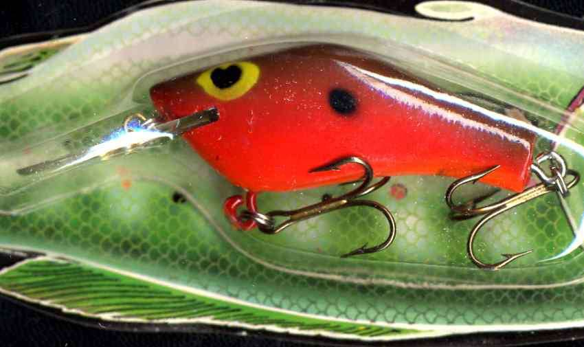 Vintage (1987) POE'S SUPER CEDAR Red Hot Belly Lure 243
