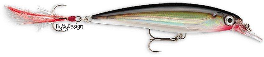 Rapala X-RAP Silver (XR08 S) Suspending Long-Casting Slashbait Fishing Lure