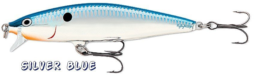 "Rapala SILVER BLUE Flat Rap (FLR06 SB) NEW 2-1/2"" Balsa Fishing Lure"